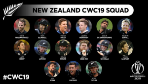 New Zealand has announced their Cricket World Cup'19 Squad