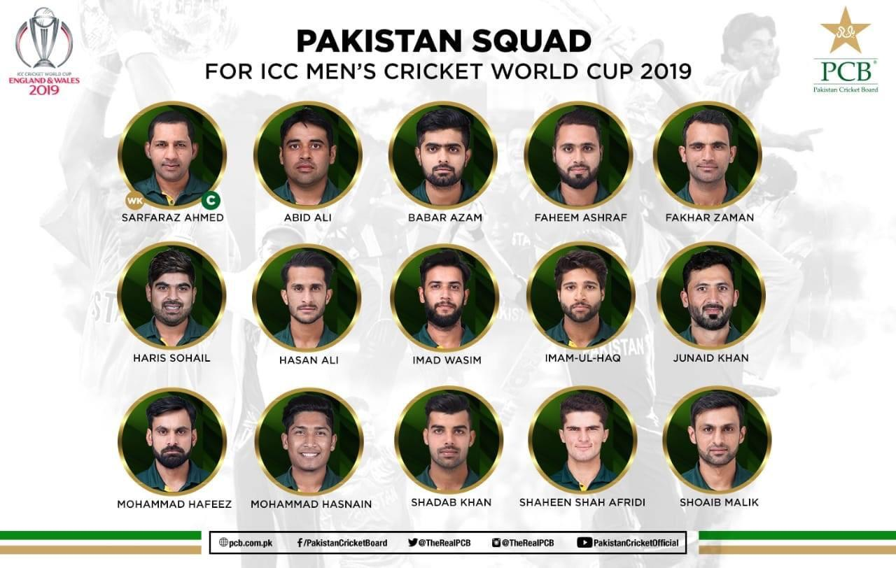 Pakistan Cricket World Cup Squad 2019 - e-Syndicate Network