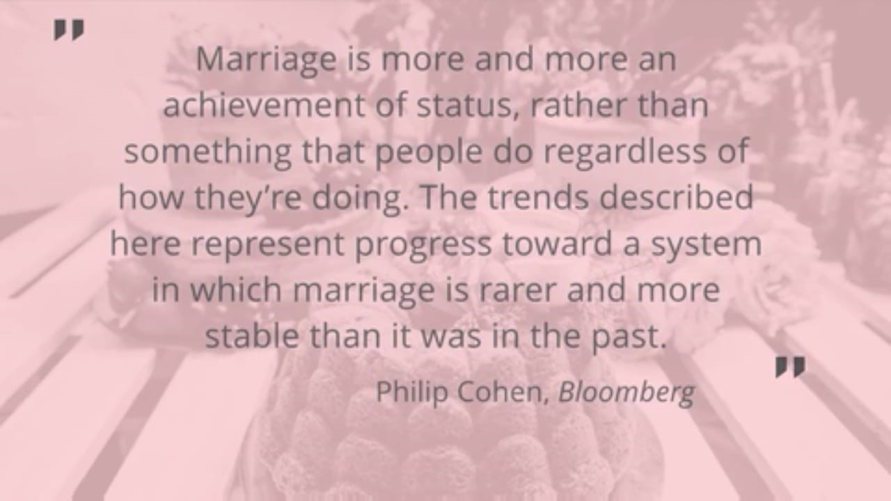 Millennia's have a record low divorce rate and here is why
