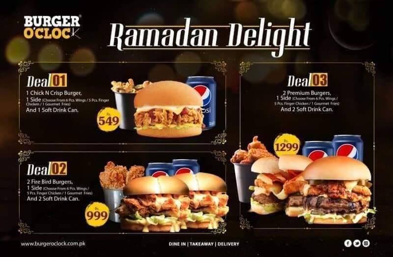 burger o'clock - ramzan deals and discounts in karachi