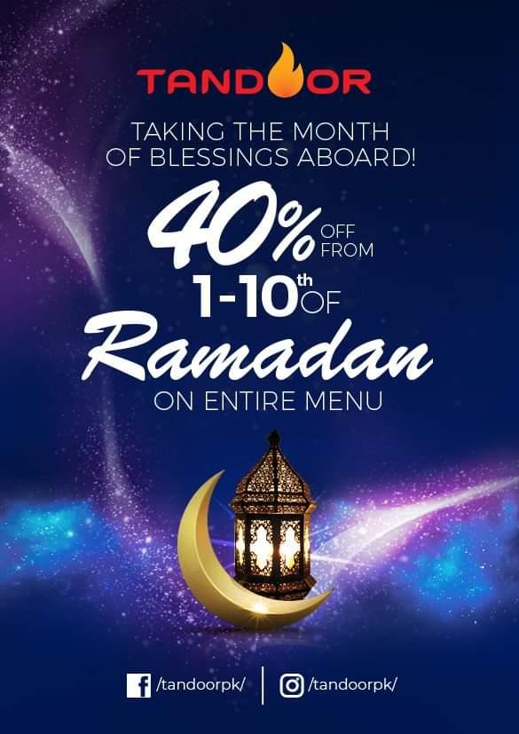 Tandoor - Ramzan Deals and Discounts in karachi