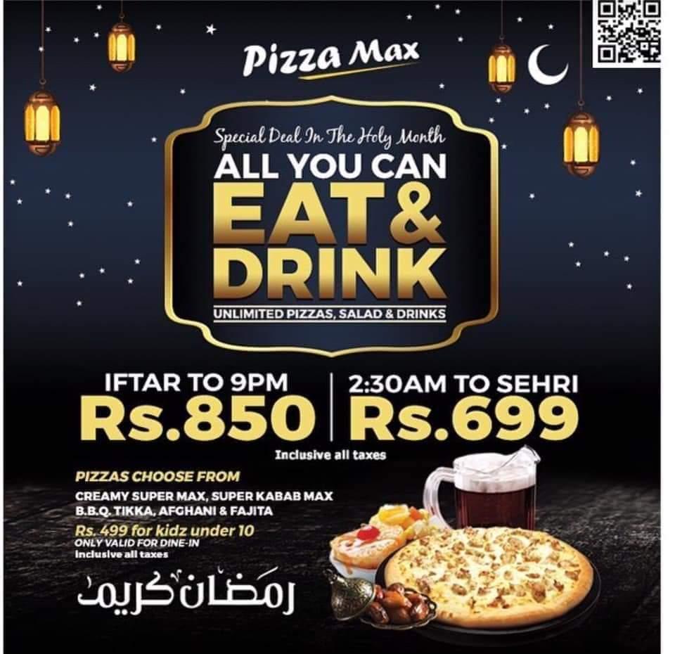Pizza Max - Ramzan Deals and Discounts in karachi 2019