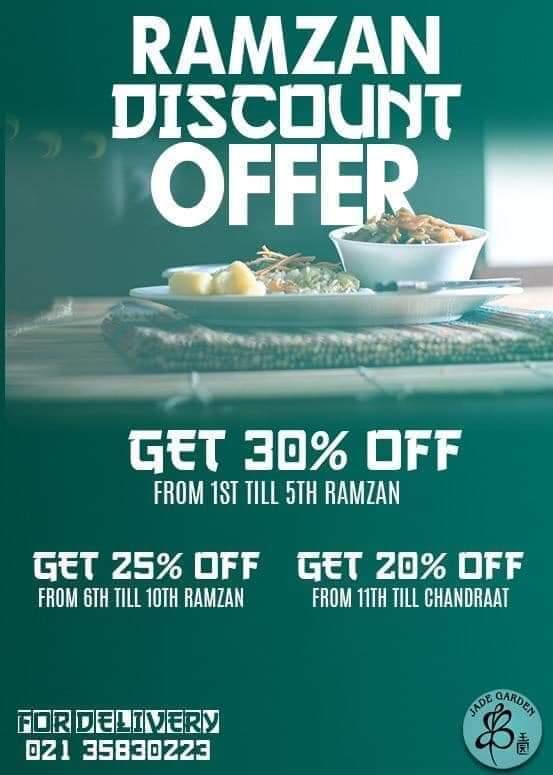 Jade Garden - Ramzan Deals and Discounts in karachi 2019