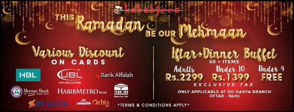 KababJees - Ramzan Deals and Discounts in Karachi