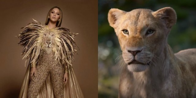 Beyoncé voices Nala in the upcoming movie 'Lion King'