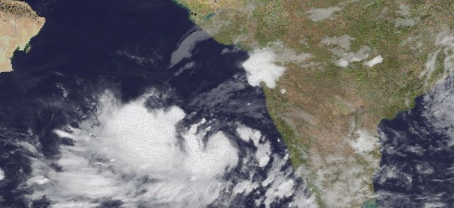 Developing low pressure in Arabians Sea to cause a Cyclone formation