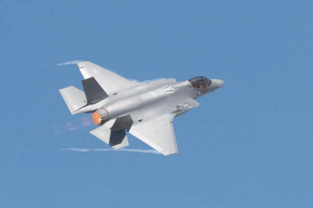 US Air Force showcases F-35
