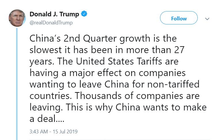 "Trump declared Trade War a ""long way to go"""