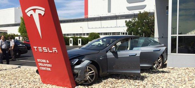 Tesla crashed