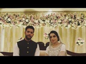 Imad Wasim ties knot with Sanniya Ashfaq in Faisal Mosque