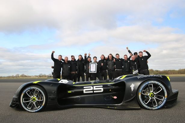 Robocar sets a new World record for fastest driver-less car with the speed of 175 mph